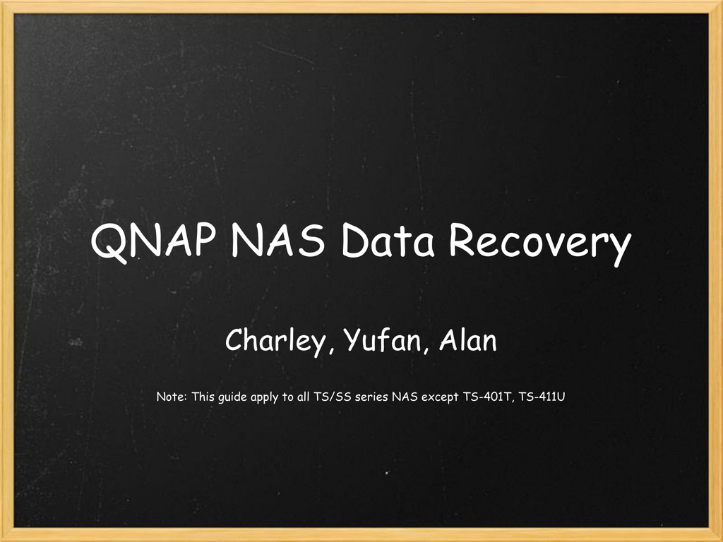 QNAP_NAS_Data_Recovery - Qnap Advanced Support