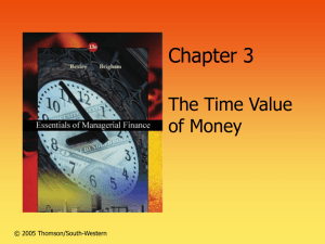 Chapter 3 - Time Value of Money