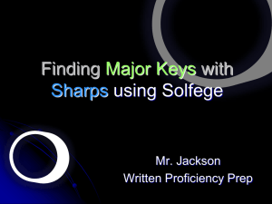 Finding Major Keys with Flats