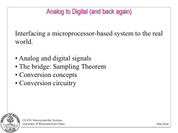 EECS 373 Design of Microprocessor-Based Systems