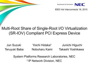 PCIe SR-IOV Capable Device