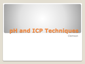 pH and ICP Quality Control and Maintenance