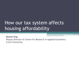 Taxes and Housing Affordability Presentation by Dr