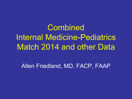 2014 Match Data - The National Med