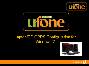 GPRS Configuration for Windows-7