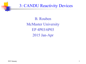 CANDU Reactivity Devices