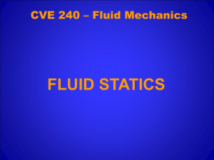 CVE 240 – Fluid Mechanics