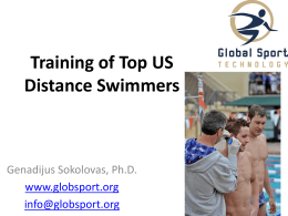Training of Top US Distance Swimmers