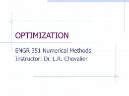 Optimization Methods - Civil and Environmental Engineering | SIU