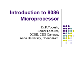 Another Detailed Introduction to 8086 MicroP by Yogesh