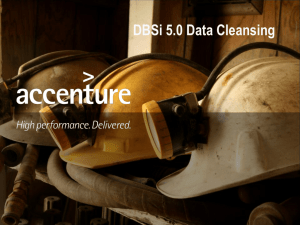 DBSi 5.0 Data Cleansing Overview