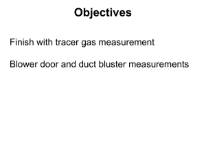Tracer Gas Decay Test