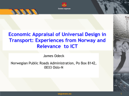 Economic appraisal of Universal Design in transport: Experiences