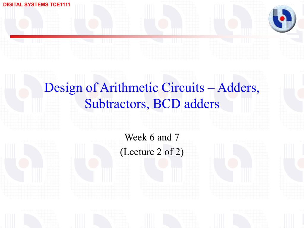 Document The Circuit Of Bcd Adder Will Be As Shown In Figure