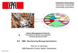 Manufacturing Messaging Specification (MMS)