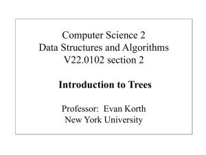 Trees lecture - NYU Computer Science Department