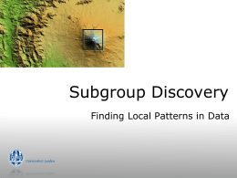Subgroup - LIACS Data Mining Group