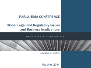 Global Legal and Regulatory Issues and Business Implications
