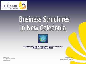 Structuring Your Business in New Caledonia