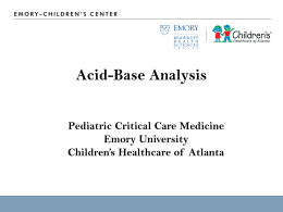 2011 Acid base - Emory University Department of Pediatrics