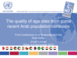 Age-sex non-reporting in population census in ESCWA countries