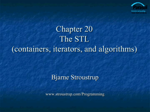 Ch20: Containers and Iterators