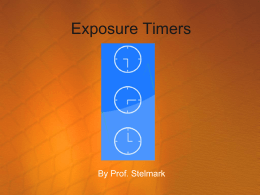 exposure timers