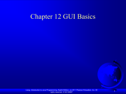 chapter GUI Basic