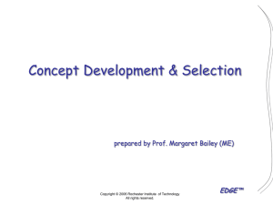 Concept Development - Edge - Rochester Institute of Technology