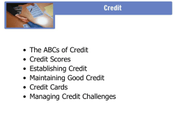 ABCs of Credit PPT - Finance in the Classroom