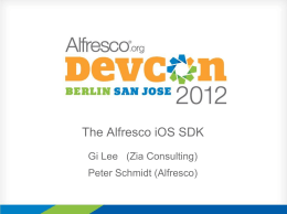 The Alfresco iOS SDK_rev