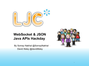 Websocket and JSON Hackday