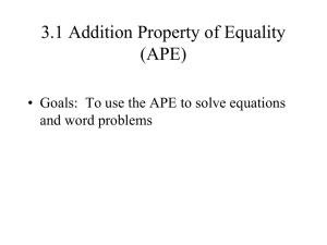 3_1 Addition Property to solve equations TROUT 09A