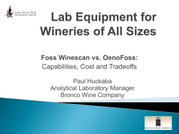 Foss Winescan vs. OenoFoss: Capabilities, Cost and Tradeoffs