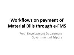 Presentation on EFMS Mat Payment Workflows.