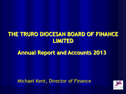 Annual Accounts for 2013