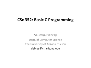 CSc 352: Systems Programming & Unix
