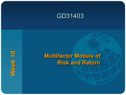 Microeconomic-Based Risk Factor Models - Kian