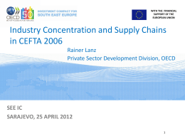 Industry Location and Supply Chains