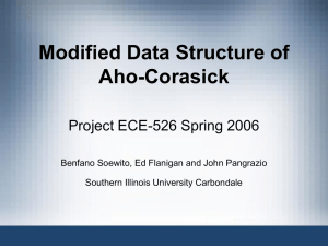 Modified Data Structure of Aho-Corasick