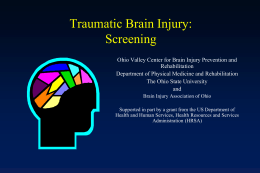 Traumatic Brain Injury (TBI) - Brain Injury Association of Ohio