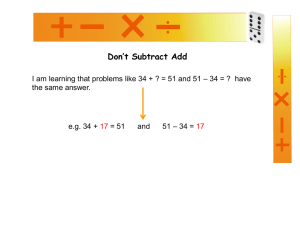 Don`t subtract add