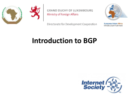 BGP Intro - African Union Pages