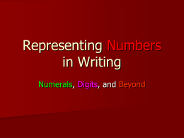 Bardolph- PowerPoint on Basic Number Rules