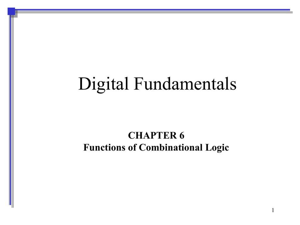 Chapter 6 9 Bit Parity Generator Logic Diagram