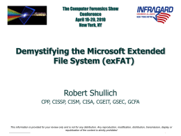 CFS – Demystifying the Microsoft Extended File System (exFAT)