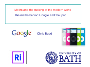 Maths and the making of the modern world