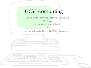 Using the Little Man Computer Simulation