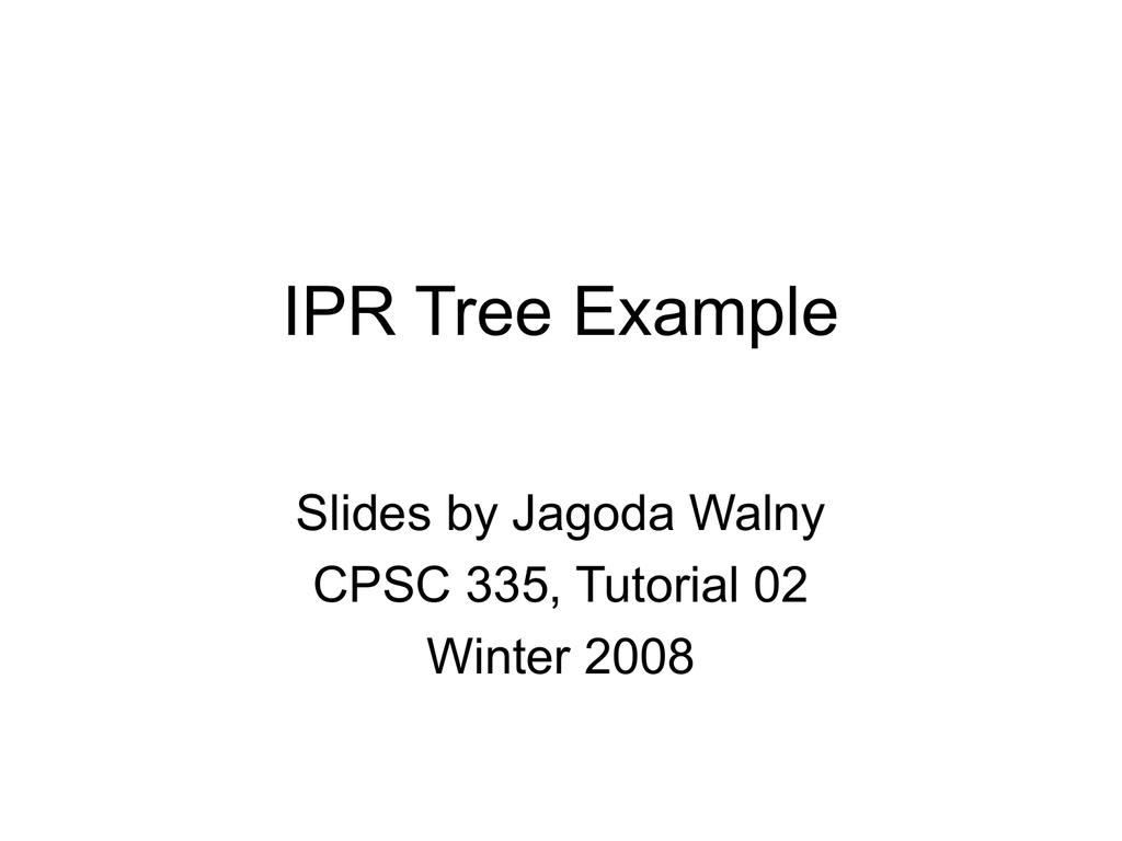 AVL Tree Example (from tutorial)