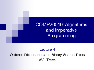 COMP20010: Algorithms and Imperative Programming